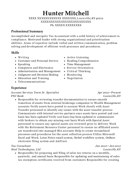 Texas Comptroller Of Public Accounts Tax Analyst Resume Sample ...