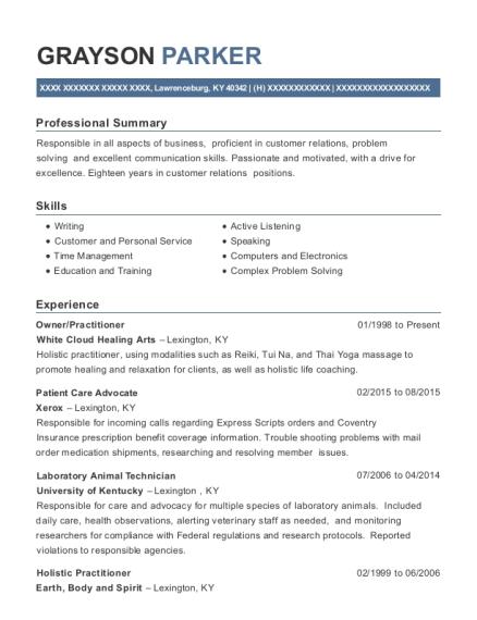 Laboratory Animal Technician , Convenience Store Clerk. Customize Resume ·  View Resume
