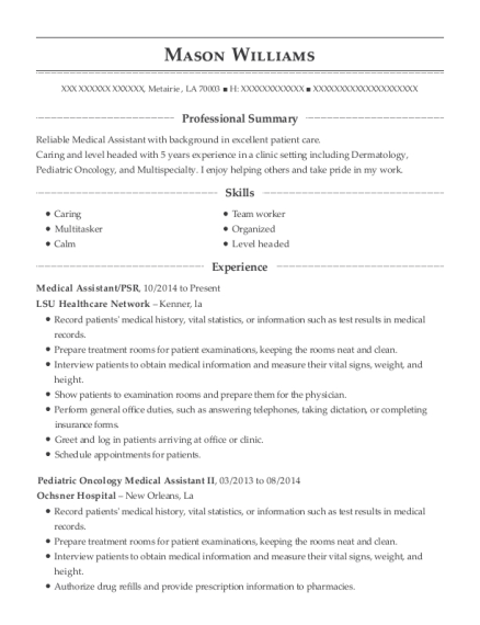 professional summary for medical assistant