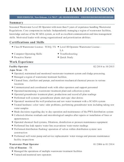 Best Facility Operator Resumes | ResumeHelp