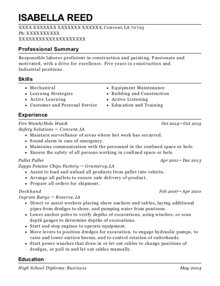isabella reed - Resume Help Com