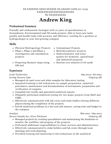 Geologist Resume] Geologist Resume Samples Visualcv Resume Samples ...
