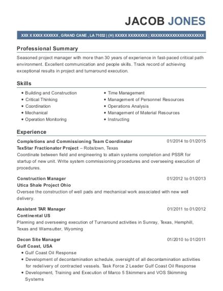 Best Decon Site Manager Resumes | ResumeHelp