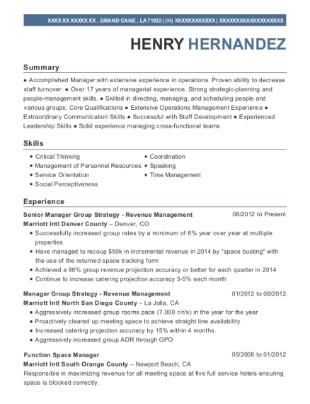 Best Revenue Manager Resumes