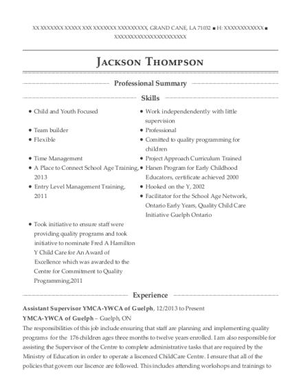 Best Registered Early Childhood Educator Resumes | ResumeHelp