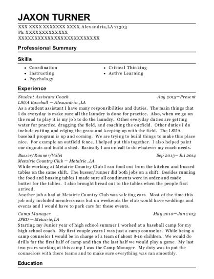 Best Camp Manager Resumes   ResumeHelp