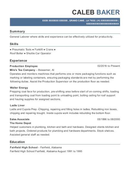 Best Production Employee Resumes | ResumeHelp