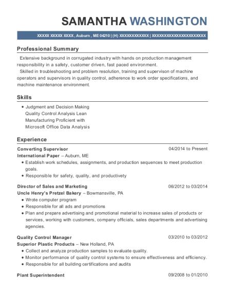 Amazing Converting Supervisor , Corrugator Supervisor. Customize Resume · View  Resume