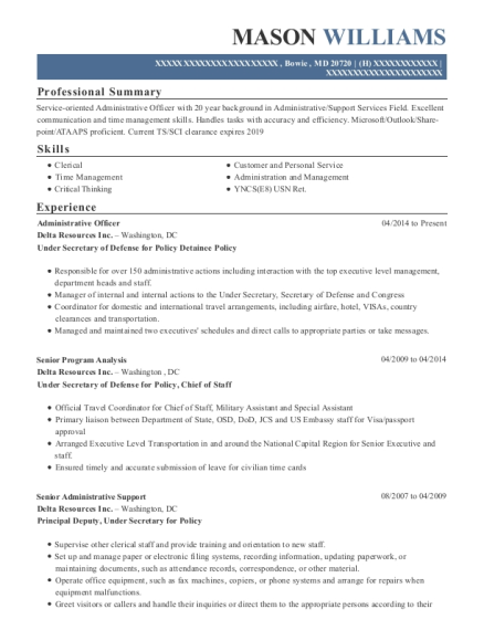 Best Administrative Officer Resumes | ResumeHelp