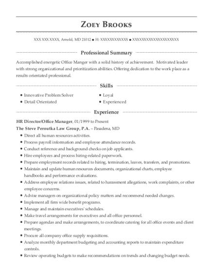 Dmc Orlando Hr Director Resume Sample - Orlando Florida   ResumeHelp