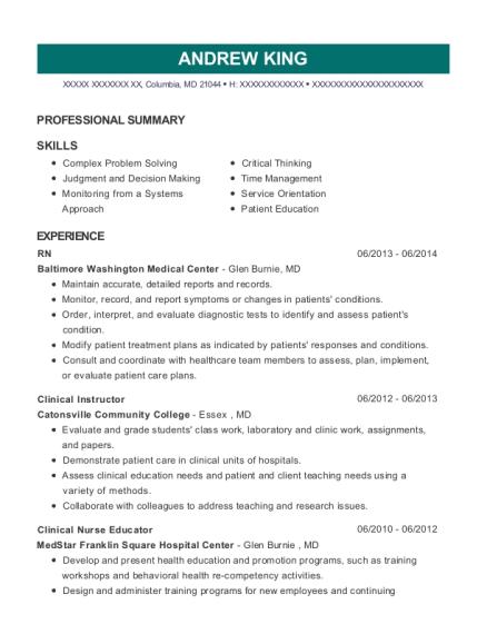 nurse educator resume samples