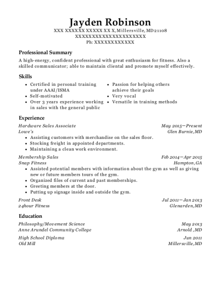 View Resume. Hardware Sales Associate