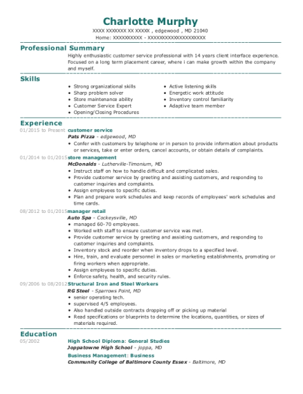 Best manager retail resumes resumehelp view resume malvernweather