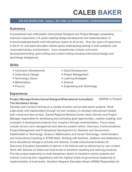 educational consultant resumes