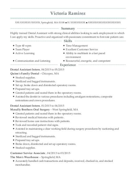 Best Dental Assistant Intern Resumes | ResumeHelp