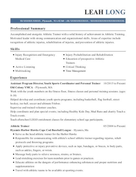 best graduate assistant athletic trainer resumes resumehelp