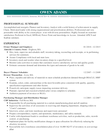view resume owner manager and employee - Purchasing Manager Resume