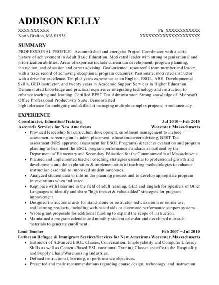 best pre ged resumes resumehelp