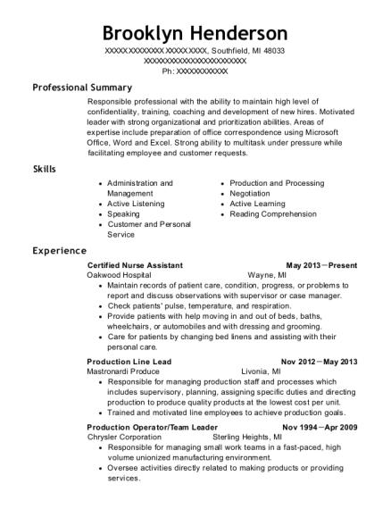 Best Production Operator Resumes | ResumeHelp