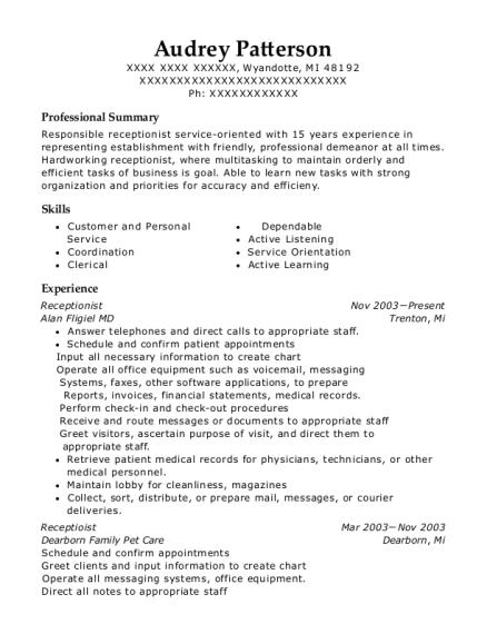audrey patterson - Nail Technician Resume