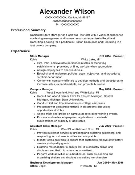 Best Campus Manager Resumes | ResumeHelp