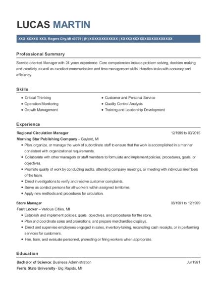 Best Regional Circulation Manager Resumes | ResumeHelp