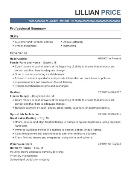 Optical Lab Technician Resume - nmdnconference.com - Example Resume ...