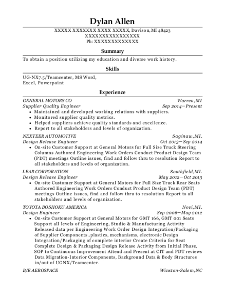best supplier quality engineer resumes
