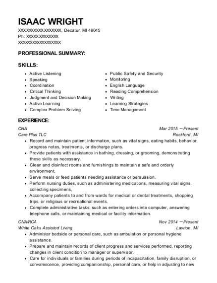 Best Cna Pct Resumes ResumeHelp