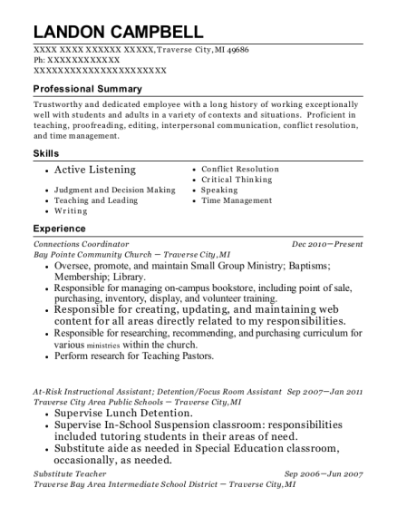 Best At Risk Instructional Assistant Resumes Resumehelp