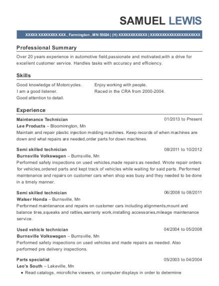 o u0026 39 reilly auto parts parts specialist resume sample