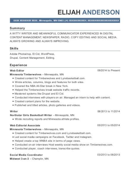 best social media coordinator resumes resumehelp