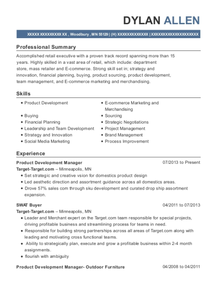Best Product Development Manager Resumes | ResumeHelp