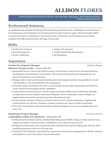 product management resumes