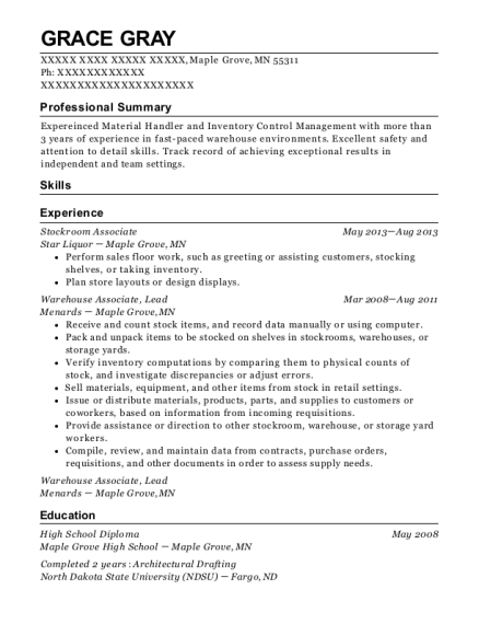 best stockroom associate resumes resumehelp