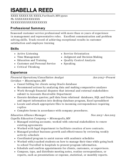 Best Education Alliance Manager Resumes   ResumeHelp