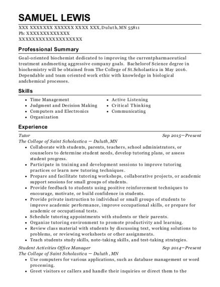 Best Organic Chemistry Lab Teaching Assistant Resumes | ResumeHelp