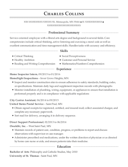 People Also Search For. Customize Resume · View Resume. Home Inspector  Intern