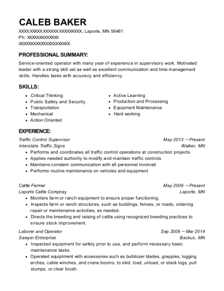 Best Cattle Farmer Resumes Resumehelp - Farmer-resume