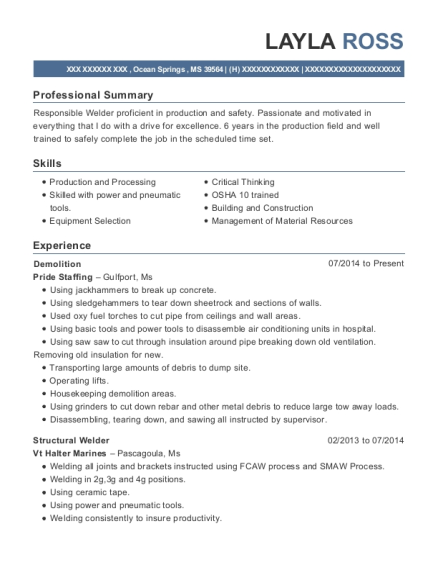 kiewit energy canada structural welder resume sample