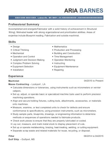 structural supervisor resume