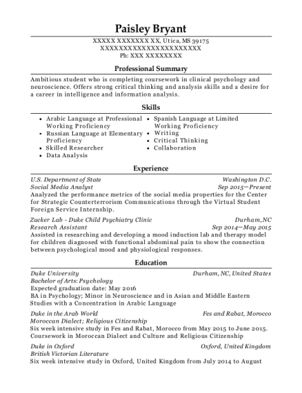 View Resume. Social Media Analyst