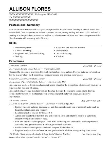 Best 4th Grade Classroom Teacher Resumes | ResumeHelp