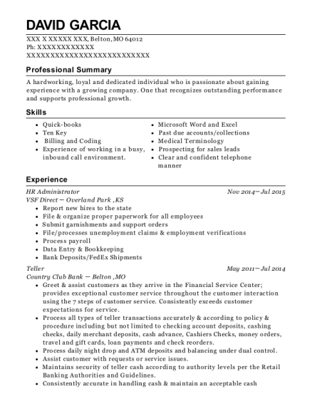 best hr administrator resumes