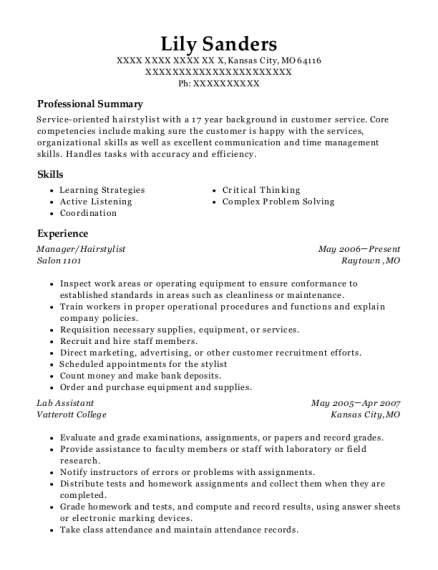 Best Assistant Manager Resumes In Kansas City Missouri Resumehelp