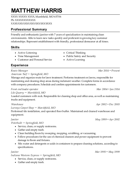 ... Front End Loader Operator. Customize Resume · View Resume