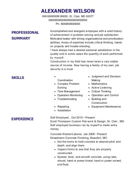 Best General Labor Foreman Resumes | ResumeHelp