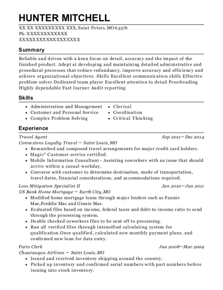 ... Loss Mitigation Specialist II. Customize Resume · View Resume