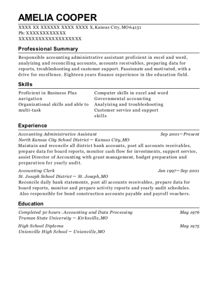 best administrative assistant resumes in kansas city missouri