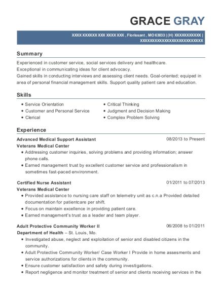 best advanced medical support assistant resumes resumehelp